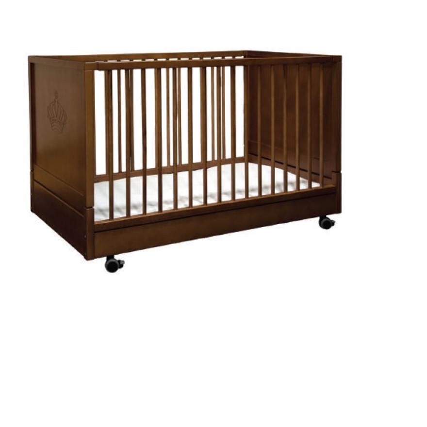Kinderbett Holz Klappbar: Kinderbett Klappbar- Fester Lattenrost Walnuss, R Tanner